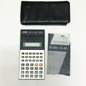 Vintage Casio Scientific Calculator With Manual